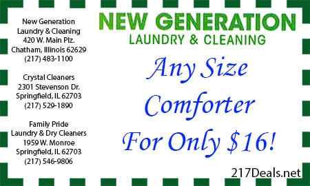 dry cleaning discounts chatham il